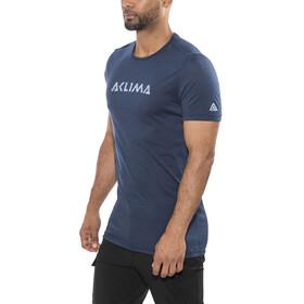 Aclima Lightwool Logo - Camiseta manga corta Hombre - azul
